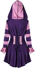 KCatsy Hooded High Low Double Breasted Corset Coat