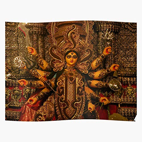 Puja India Pray Devi Potter Kolkata Ornament Durga Home Decor Wall Art Print Poster !