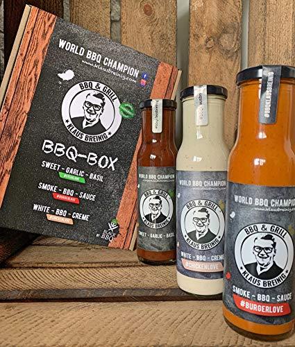 Black BBQ WORLD BBQ CHAMPION Klaus Breinig Box mit 3 Saucen 3 x 240 ml