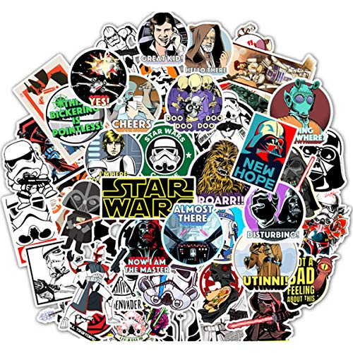Science Fiction Film Theme Star Wars Stickers Cute Stickers for Water Bottles Hydroflasks Skateboard Decal Stickers for Teens, Girls, Boys, Adults Laptop Stickers (Star Wars)