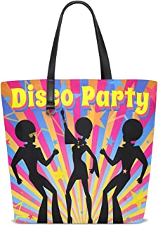 FANTAZIO Schultertasche für Damen, Disco-Party-Muster