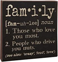 Hearthside Collection The Definition of Family – Decorative Wood Sign 6-in x 6-in
