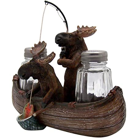 Moose Bear Salt /& Pepper Shaker Set 7-inch Collectible Lodge Decor