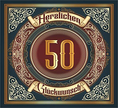 RAHMENLOS 3 St. Aufkleber Original Design: Selbstklebendes Flaschen-Etikett zum 50.Jahrestag Geburtstag oder Jubiläum