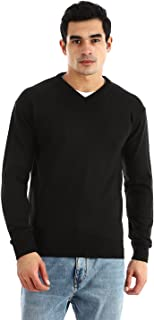 Andora Ribbed V-neck & Cuffs Knitted Sweater