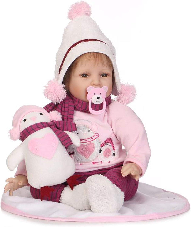 Terabithia Bambola del Bambino rinato realistica da 21 Pollici, Pupazzo di Neve Caldo, Bambola della Ragazza Realizzata in Vinile siliconico per Regalo Santa