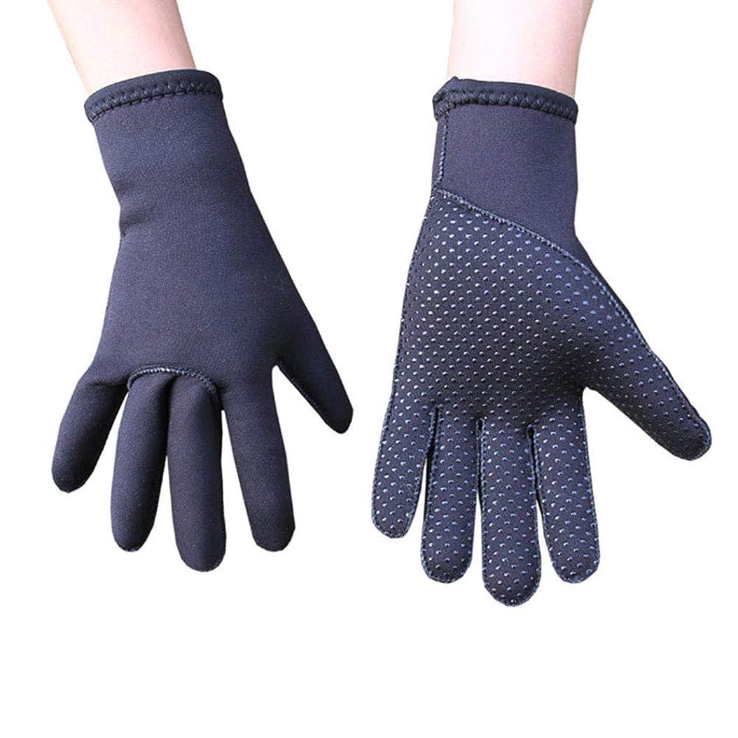 統合流連結するダイビング手袋2.5MM厚い濡れたスノーケリングアンチスキッド防止冬の水泳ダイビングシュノーケリング装置