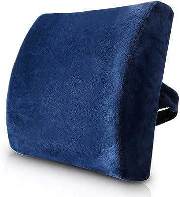 WYFDZBD Car Lumbar Car Office Backrest Lumbar Pillow Office Seat Lumbar Cushion Four Seasons Universal Blue