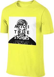 Avicii True Stories Tシャツ メンズ 半袖 無地 綿 夏 カットソー おしゃれ 大きいサイズ