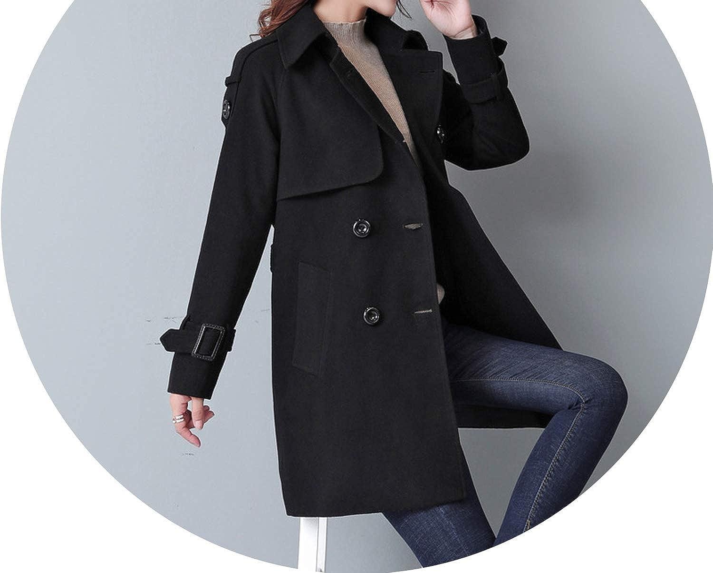 Black Woolen Winter Coats Style Wool Coat and Jacket Elegant Ladies Coats