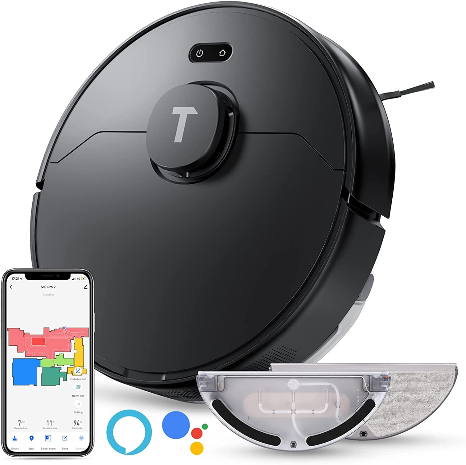 STRE S10 Pro LDS Lidar Mapping 2-in-1 Robot Vacuum $93.79 Coupon