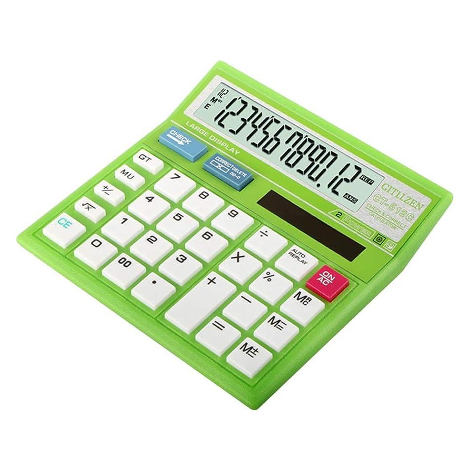 細心のスカルク飼料ビジネス電卓 学生の大きいLCD表示大きいボタン12ディジットの太陽電子デスクトップの計算機 ミニジャストタイプ電卓 (色 : 赤, サイズ : ワンサイズ)