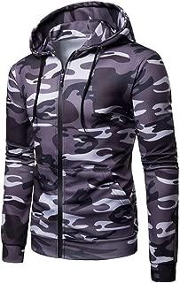 Men's Hoodies, FORUU Long Sleeve Camouflage Hooded Sweatshirt Top Tee Outwear Blouse