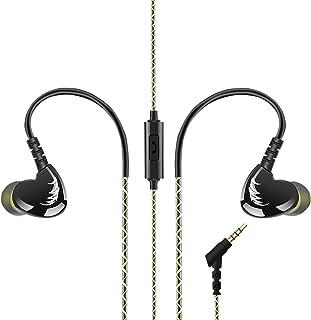 AGPTEK Auriculares in-Ear para Hacer Deporte (reducción de Ruido,3.5mm), Negro
