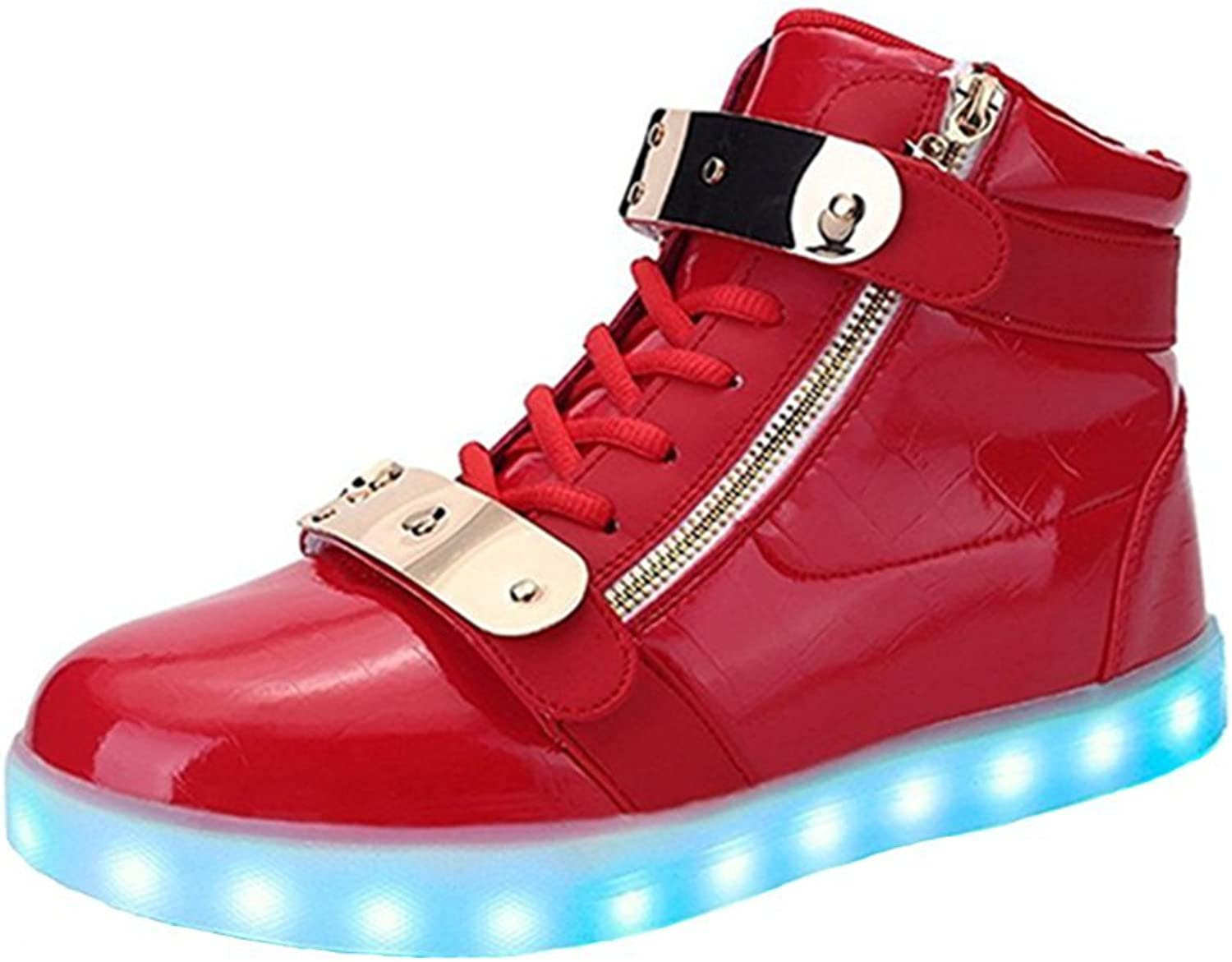 THEZX LED Light Up shoes 7 colors in 11 Modes High Top Flashing Sneakers for Mens & Womens