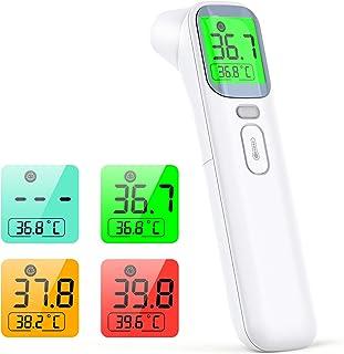 konjac termometro infrarrojos, termómetro digital termómetro sin contacto, modo 4 en 1 para medir el frente y oído, adulto...