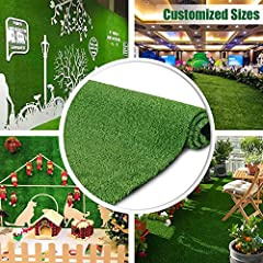 "Premium Quality Material: made of the highest quality poly polypropylene yarns, resistant synthetic material high temperature.Multi-purpose and very durable superior quality artificial grass/turf brand. Blade height is close to 0.4"" and perfect for t..."