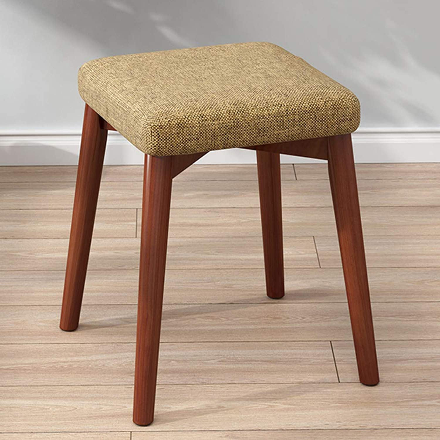 ZXQZ Stool Household Solid Wood Stool 31X43CM Fabric Sofa Square Stool A Variety of colors Optional (color   A1 )