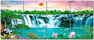 Emisores térmicos ZR Mural Cristal Carbono Mural Cálido Calefactor Eléctrico Pared Hogar Ahorro Energía Provincia 4 Murales (Color : 1005)