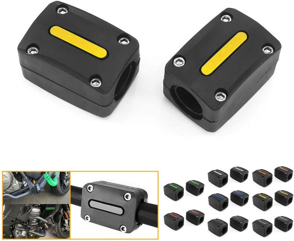 QIDIAN 1 Pair Motorcycle Bumper Protection Max 44% OFF Bombing new work B Guard Engine Blocks