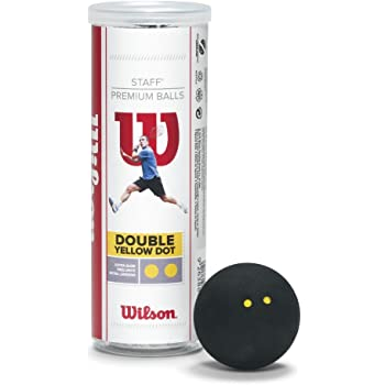 Wilson Staff–Juego de pelotas para squash (3-Pack)