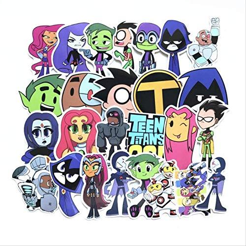 Kvfnbt 26 Pegatinas de Graffiti, Pegatinas de Juguete de animación de Dibujos Animados, Pegatinas con Forma de Coche de refrigerador de Carrito de Equipaje para portátil de Snowboard