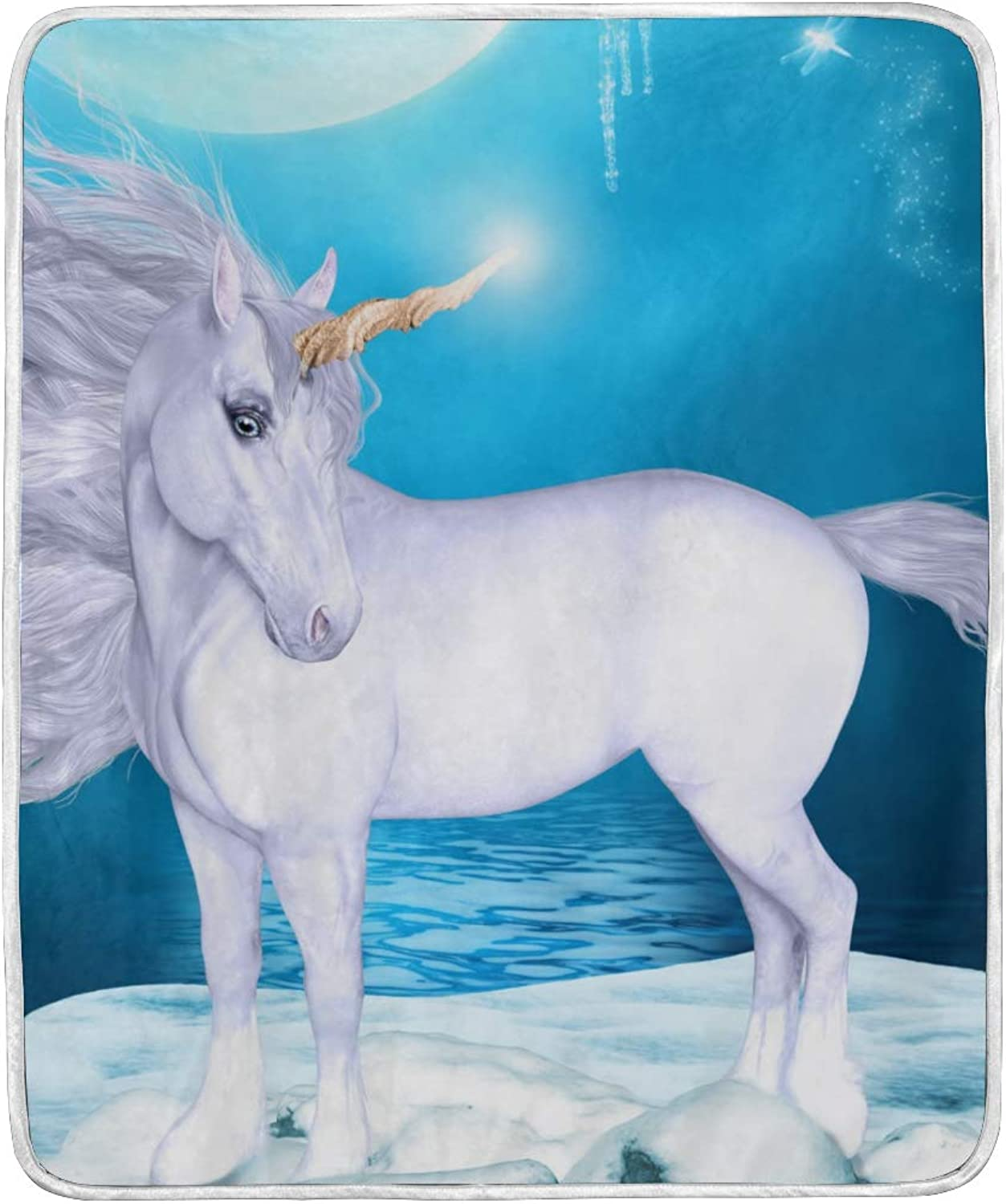 CIXUAN Horse Print Throw Blanket Comfort Design Home Decoration Lightweight Blanket for Kids Boys Women Men Perfect for Couch Sofa or Travelling