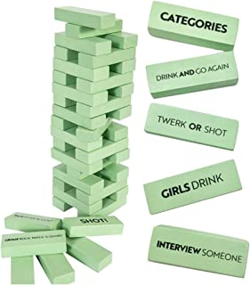 Buzzed Blocks Adult Drinking Game - 54 Blocks with Hilarious Drinking Commands and Games on 40 of Them   Perfect Pregame Party Starter   Entertaining Party Game for Adults   Funny Novelty Present