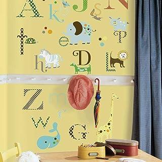 Roommates Repositionable Children's Wall Stickers Animal Alphabet, Multi-Colour