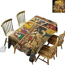 Sillgt Tablecloth Cartoon King Queen Scandinavia High-end Durable Creative Home 60