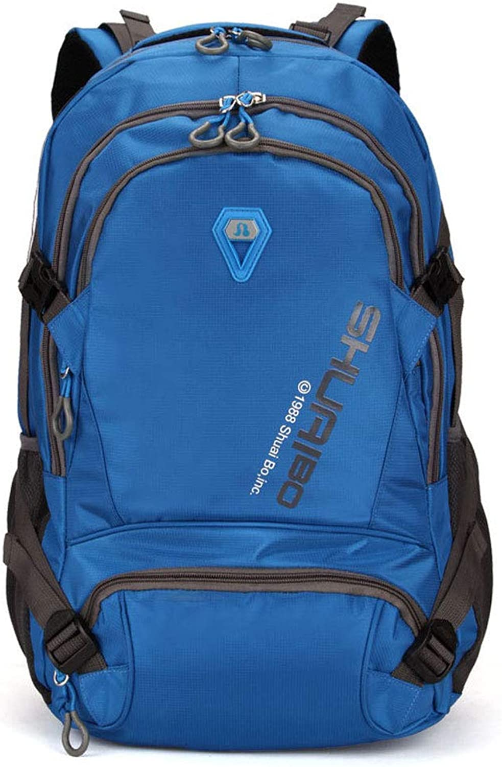 Backpack mountaineering large capacity backpack outdoor travel sports bag leisure computer student bagblueee