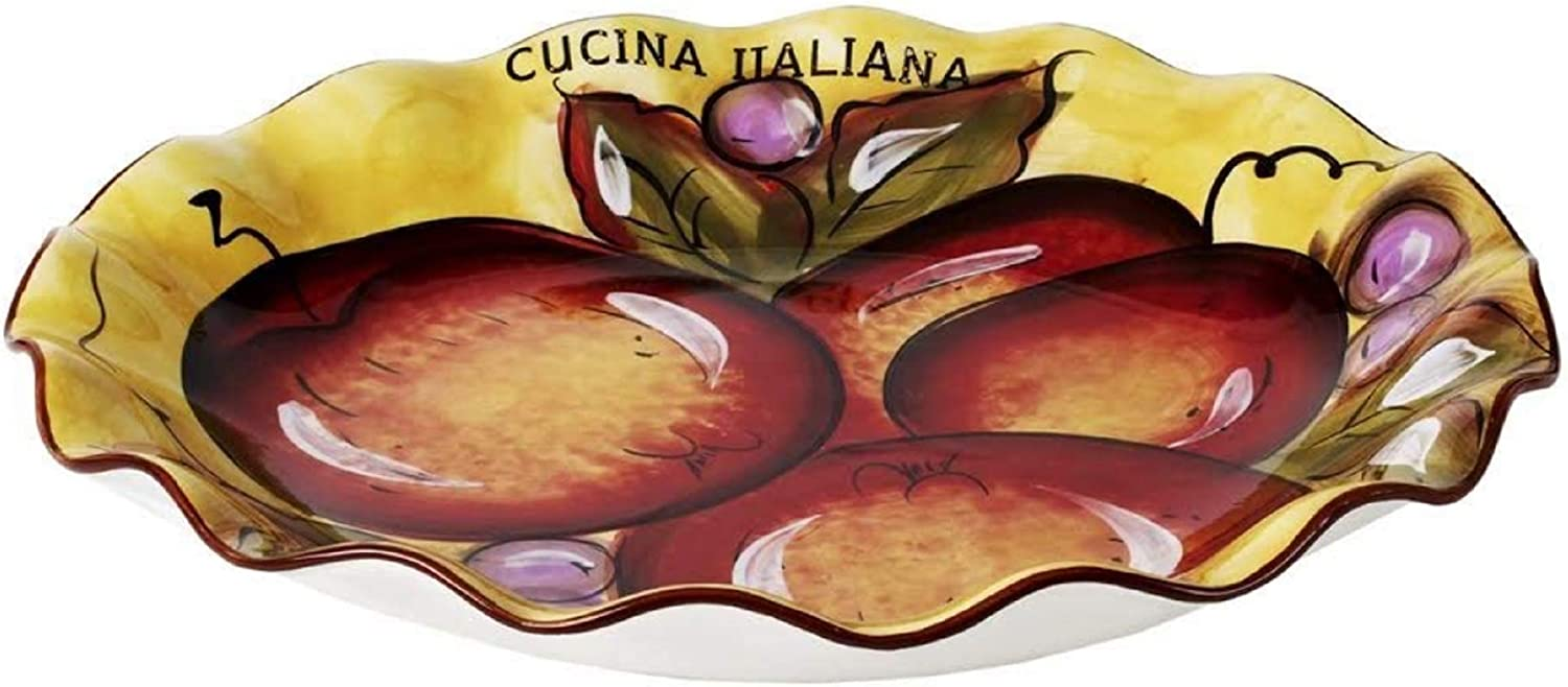 Cucina Italiana Pasta Serving Plate x Ceramic Inches Spring Max 53% OFF new work one after another 13