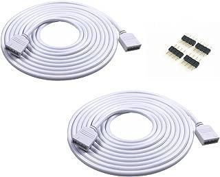 2PCS 5M 16.4ft 4 Color RGB Extension Cable LED Strip Connector Extension Cable Cord Wire 4 Pin LED Connector for SMD 5050 3528 2835 RGB LED Light Strip