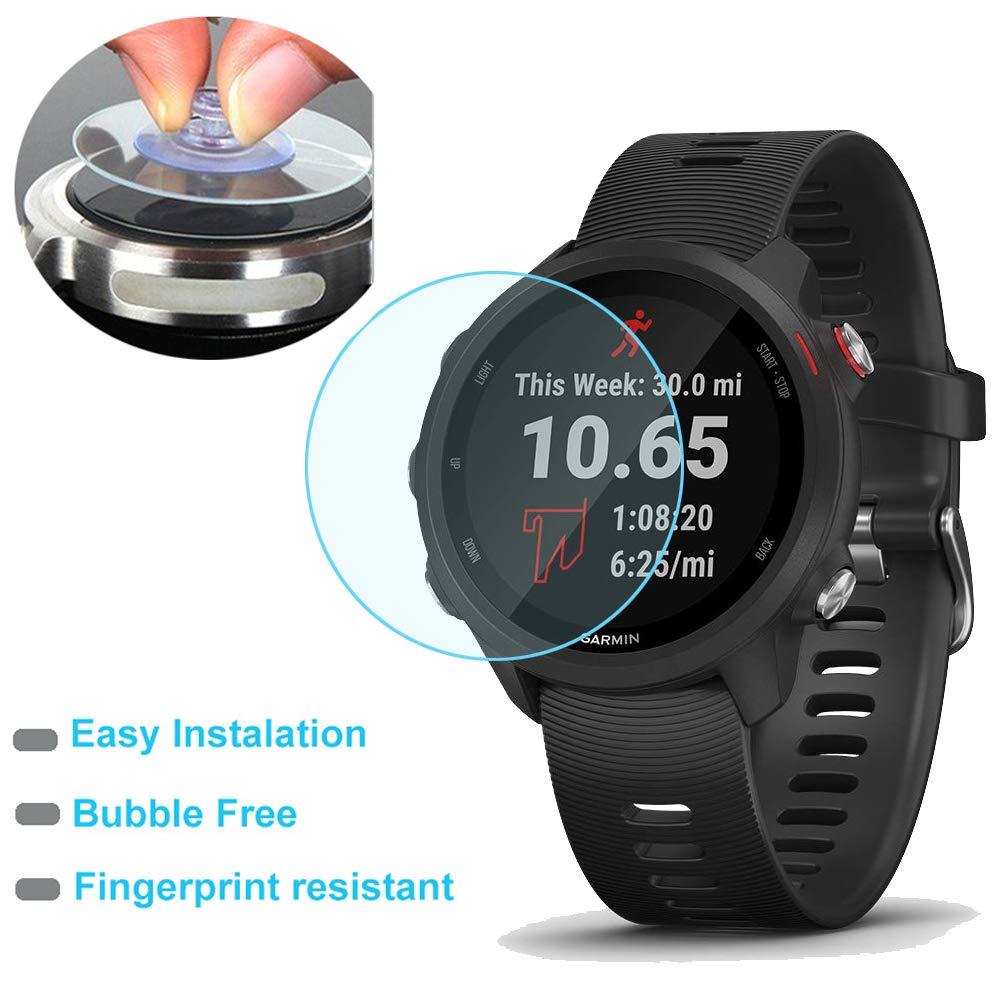 0.3mm Ultra-Thin 9H Hardness Scratch Resistant Tempered Glass Screen Protector Film for Garmin Forerunner 245//245 Music Smartwatch 2pack Duttek
