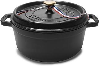 [ストウブ] ピコ ココット ラウンド 24cm 3.8L STAUB 両手鍋(7903-0005)[並行輸入品] ブラック 24cm