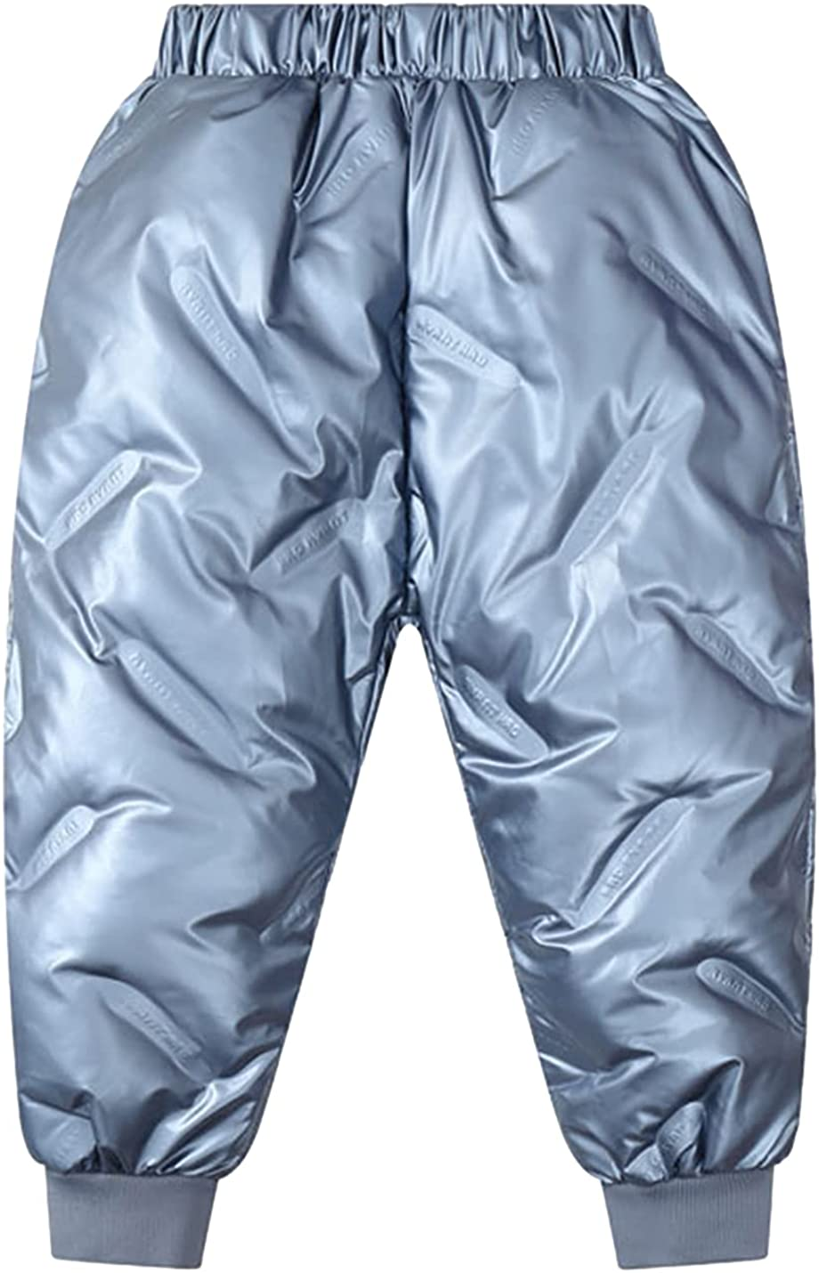 AMEBELLE Unisex Shiny Waterproof Down Pants Warm Snow Puffer Pant for 3T-9Y Boy Girl