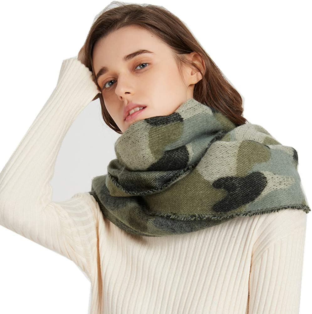 Camo Pashmina Winter Scarf 40% OFF 5 ☆ very popular Cheap Sale Camoflauge Outdoor Sc Blanket Fashion