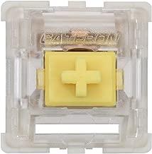Gateron KS-9 RGB Mechanical MX Type Key Switch - Clear top (90 Pcs, Yellow)