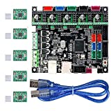 MKS Gen L V1.0 3D Printer Integrated Mainboard Controller PCB Board Compatible Ramps1.4/Mega2560 R3 with A4988 Motor Driver for 3D