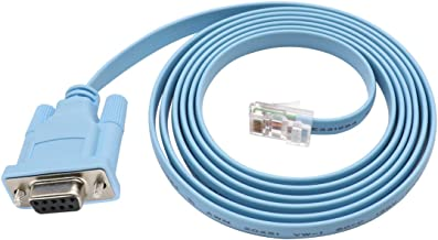 Cisco Console Cable 9-pin DB9 Female Serial RS232 Port to RJ45 Male Cat5 Ethernet LAN Rollover Console Cable Switch Cable Cisco (DB9P to RJ45)