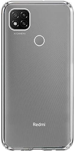 BuyFeb Silicone Back Case Cover Compatible for Xiaomi Redmi 9 9C Transparent Ultra Clear Soft Case Slim Protective Design Inbuilt Bumper Corners