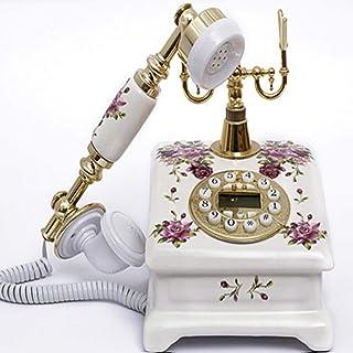 LSHGJ コード付き電話ヴィンテージ電話アメリカンスタイルの電話家庭用フィットハンズフリー/バックライト/発信者ID加入電話