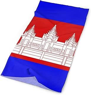 Cambodian Flag Magic Headwears,16-in-1 Tube Scarf Wrap Facemask Headbands Neck Gaiter Bandanna