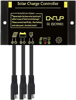 SUNER POWER Waterproof 10A Solar Charge Controller - Intelligent12V/24V Solar Panel Battery Regulator