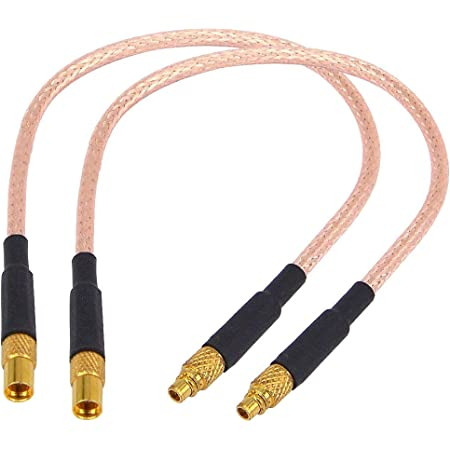 MMCX Male Right Angle to SMA Female RA Angle Pigtail Cable RG178 10cm New Fast USA Shipping