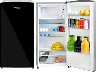 Super General 170 Liter Gross Volume Compact Design-Refrigerator SGR-186, Black/Silver, Beverage-Fridge with mirrored Doo...