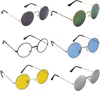 958b54f209db Trendmi Gandhi Round Shape Retro UV Protection Men's and Women's Sunglasses  Shades (Black Green Blue