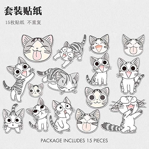 FSVGC Cartoon Stickers Cat Suitcase Stickers Guitar Suitcase Stickers Private Cat Trolley Bag Stickers