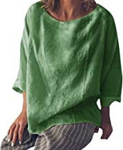 GOWOM Women's Casual Boho Printing Half Sleeve T Shirts Lose Tank Tops