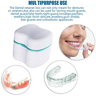 Mouth Protector Container Teeth Guard Holder Denture Retainer Storage Case DS